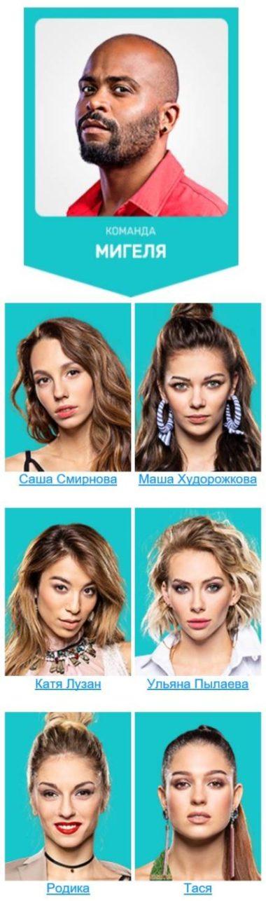 Мигель и его команда 5 сезона шоу Танцы на ТНТ